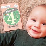Personalised Baby Milestone Cards For Special Moments