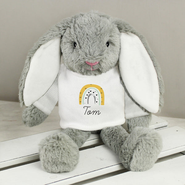 Personalised Rainbow Bunny