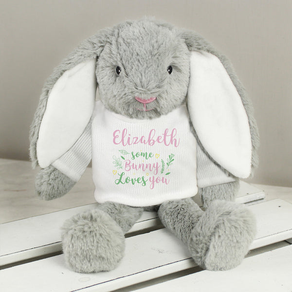 Personalised 'Some Bunny Loves You' Easter Bunny
