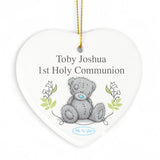 Personalised Me To You Holy Communion Ceramic Heart