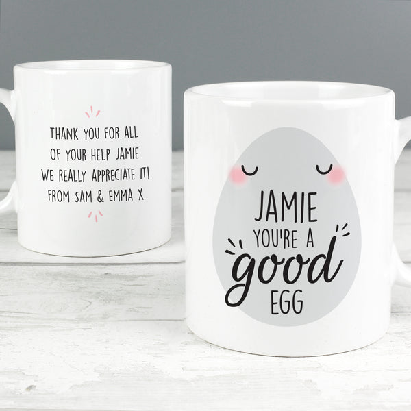 Personalised 'You're a Good Egg' Mug