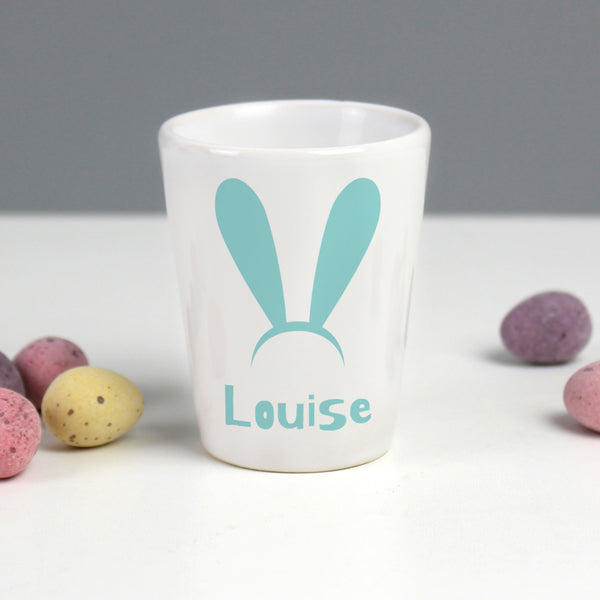 Personalised Rabbit Ears Egg Cup