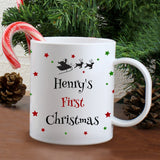 Personalised Christmas Eve Plastic Mug - Stars