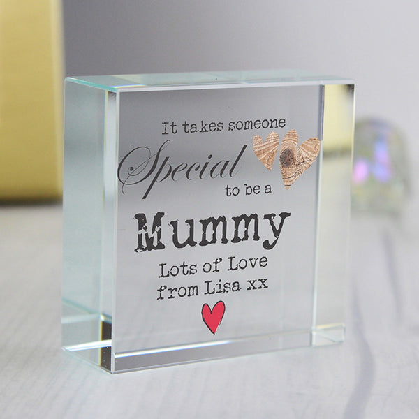 Personalised 'It Takes Someone Special' Medium Crystal Token