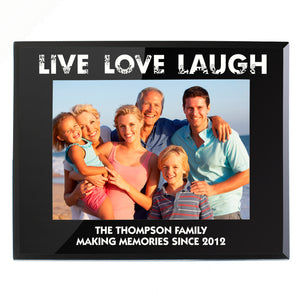 You added Personalised Live Love Laugh Black Glass 7x5 Photo Frame to your cart.