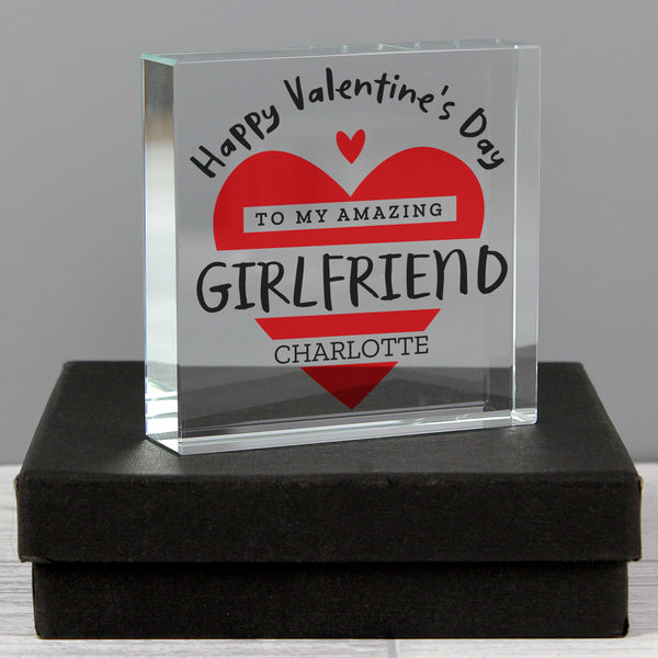 Personalised Valentine's Day Crystal Token