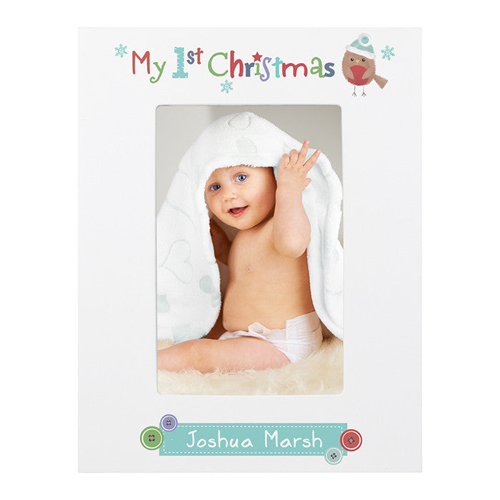 Personalised 'My 1st Christmas' photo frame