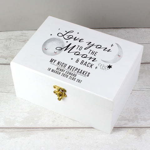 Personalised 'Moon & Back' Keepsake Box - for NICU/Special Care babies