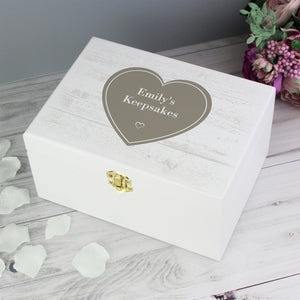 You added Personalised Rustic Heart White Wooden Keepsake Box to your cart.