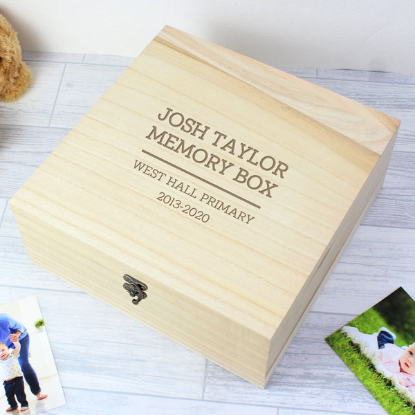 Personalised School Leaver Keepsake Box