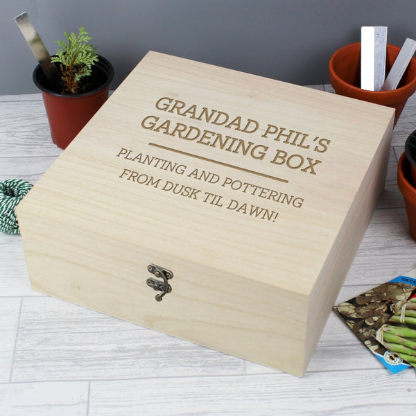 Bloke's Any Message Personalised Wooden Keepsake Box