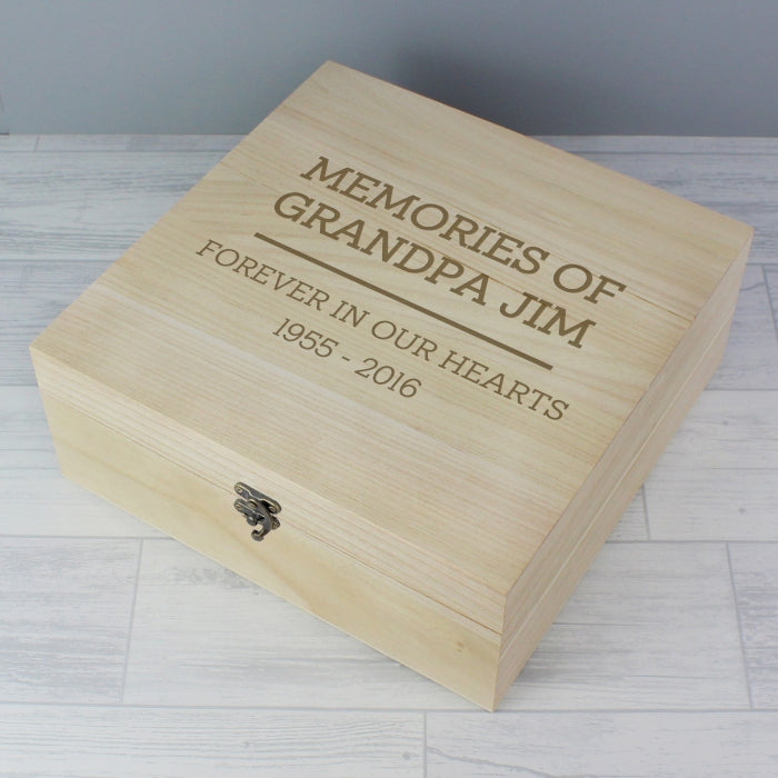 Any Occasion/Any Message Personalised Wooden Keepsake Box