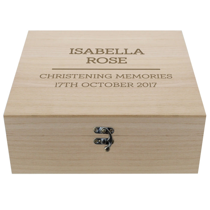 New Baby Any Messsage Wooden Keepsake Box