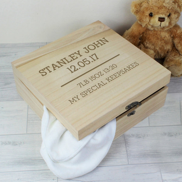 New Baby Any Message Wooden Keepsake Box