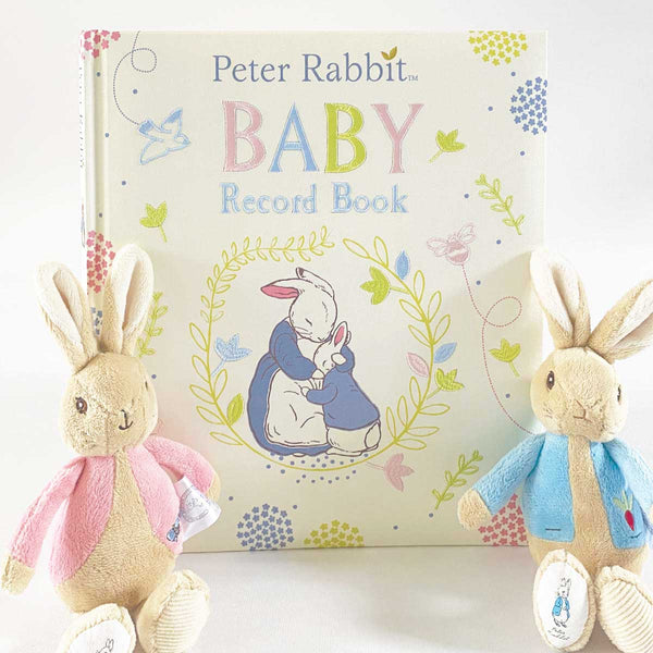 Classic Peter Rabbit™ Collection Embroidered Baby Record Book