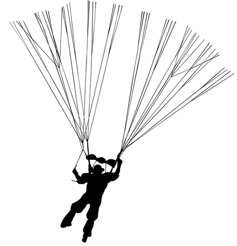 Personalised Parachute/Parascender Fingerprint Art