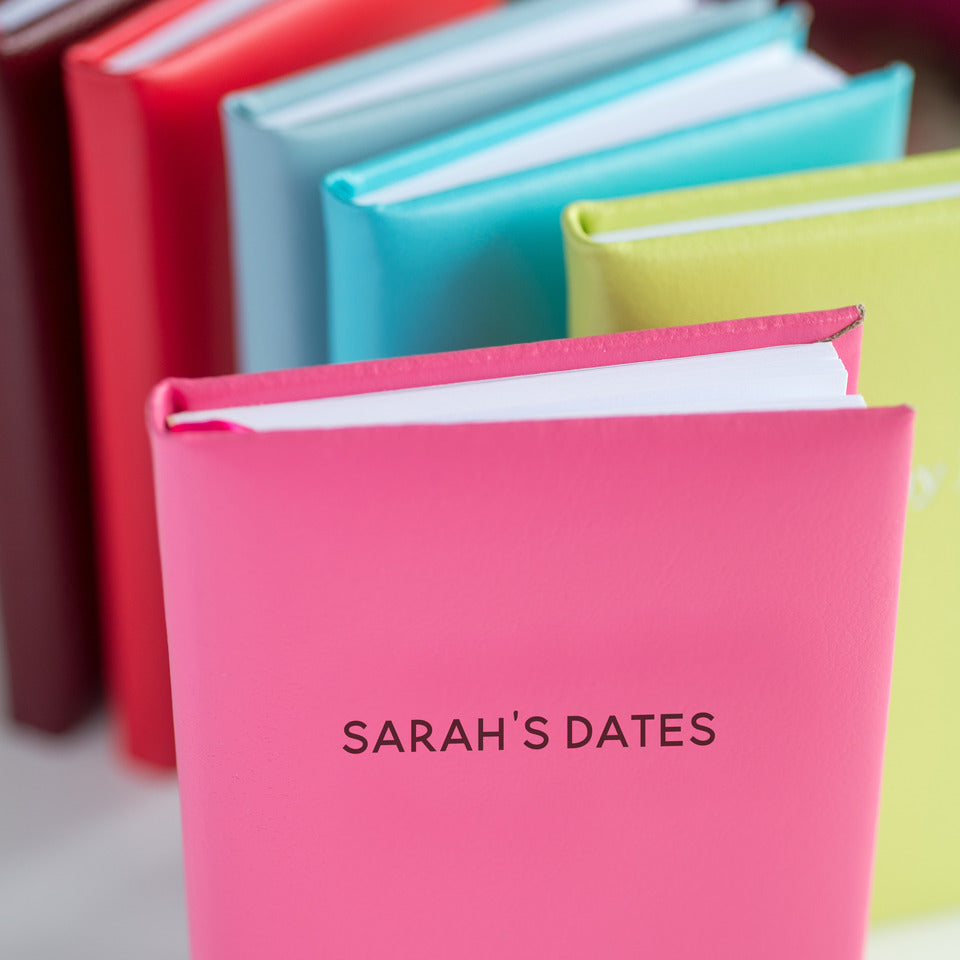 Personalised Leather Birthday and Special Dates Book