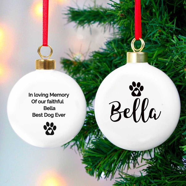 Personalised Pet Ceramic Bauble