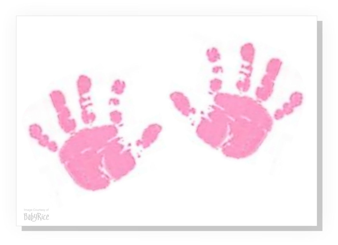 pink baby hand footprint canvas kit � tlksco