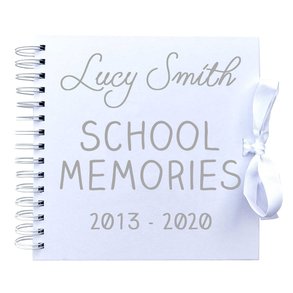 Personalised School Memories Scrapbook (Kraft, Black, White)