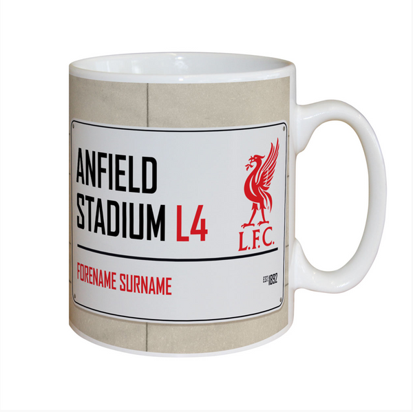 Personalised Football Street Sign Mug