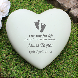 You added Personalised Footprints Heart Memorial to your cart.