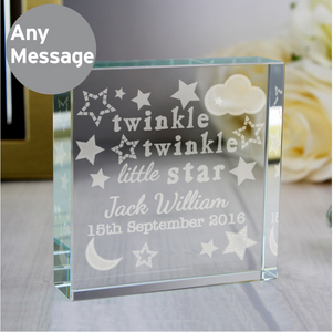 You added Twinkle Twinkle Personalised Crystal Token to your cart.