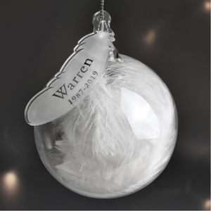 You added Personalised White Feather Name & Date Glass Bauble to your cart.