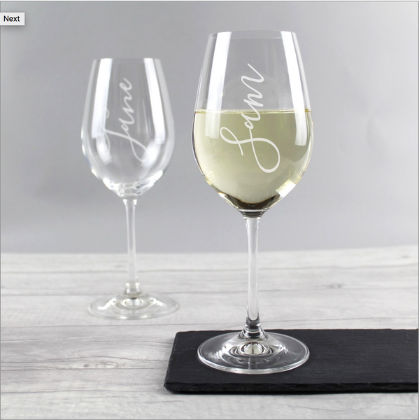 Personalised Name Wine Glass