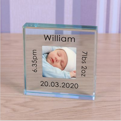 Personalised New Baby Crystal Token