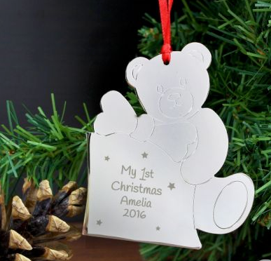 Personalised Teddy My 1st Tree Decoration