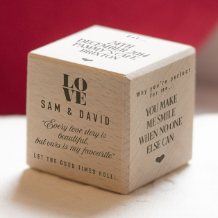 Personalised 'Our Love Story' Dice