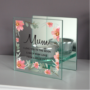 You added Personalised Floral Sentimental Mirrored Glass Tea Light Holder to your cart.