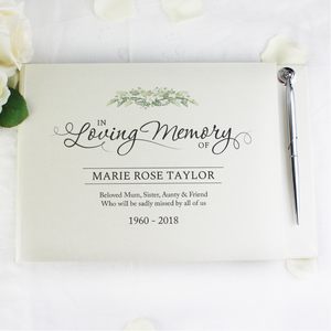 You added Personalised In Loving Memory Hardback Guest Book & Pen to your cart.
