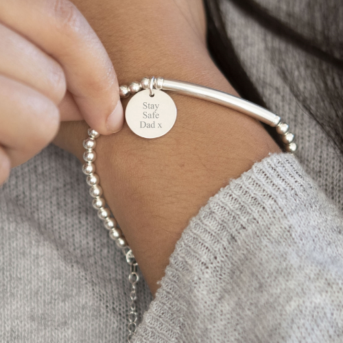 Personalised Silver Bracelet with Token
