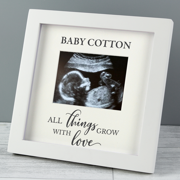 "Personalised ""All Things Grow"" Baby Scan Frame"