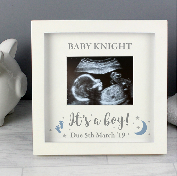 "Personalised ""It's A Boy!"" Baby Scan Frame"