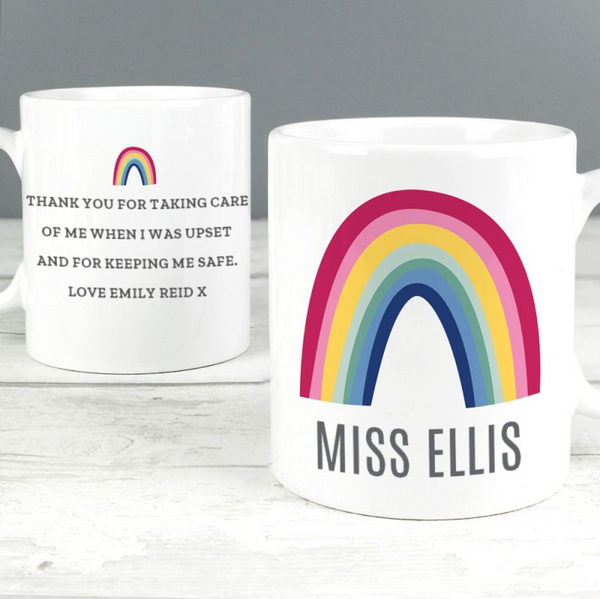 Personalised Teacher Rainbow Mug
