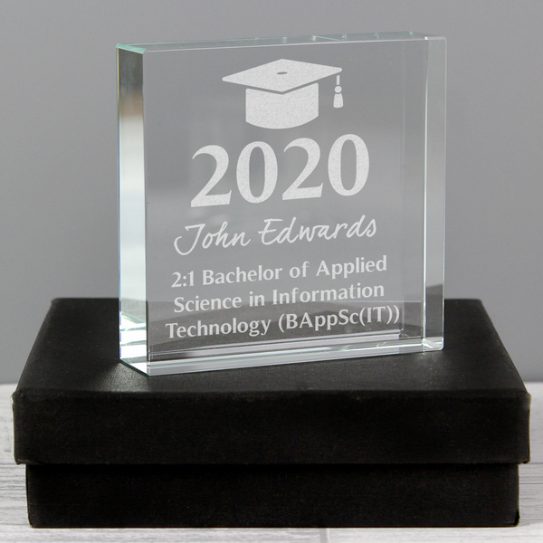Personalised Graduation Crystal Token
