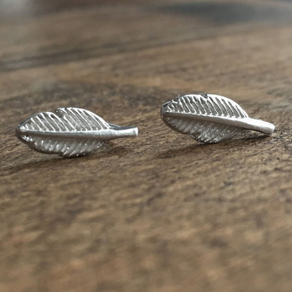 Sterling Silver Feather Stud Earrings Create Your Own Personalised Gift Box