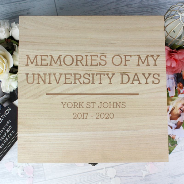 Personalised Graduation Wooden Keepsake Box - Any Message