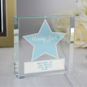 You added Personalised Baby Boy Star Crystal Token to your cart.