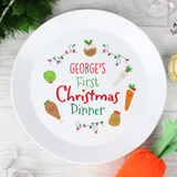 Personalised 'First Christmas Dinner' Plastic Plate