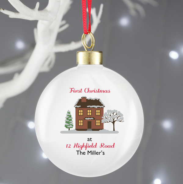 Personalised First Christmas In Our House Bauble