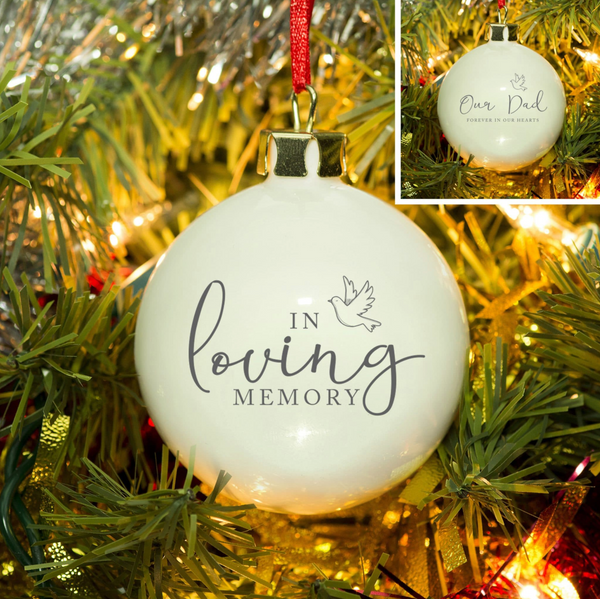 Personalised Christmas Bauble - 'In Loving Memory'