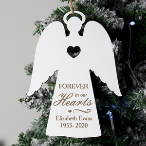 You added Forever In Our Hearts Personalised White Wooden Angel Decoration to your cart.