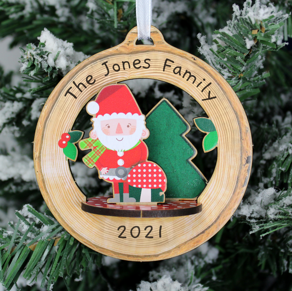 Personalised Build Your Own Santa 3D Decoration Kit