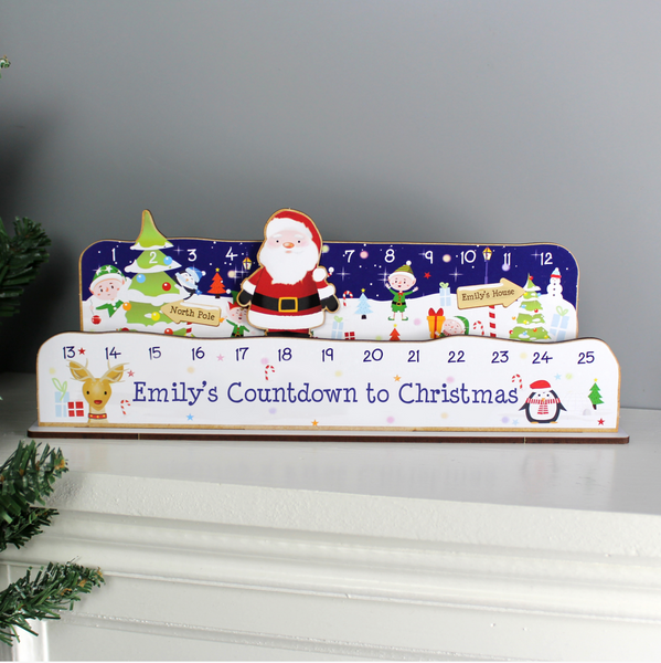 Personalised Build Your Own Santa Christmas Advent Countdown Kit