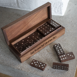 Personalised Engraved Wooden Domino Set