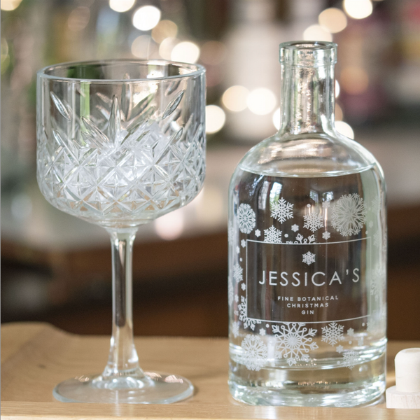Personalised Snowflake Gin Bottle